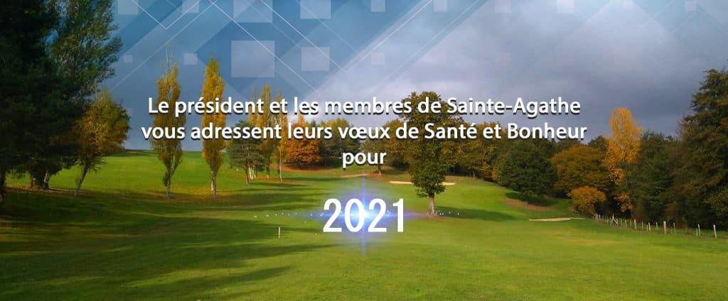 vœux 2021 golf de sainte agathe